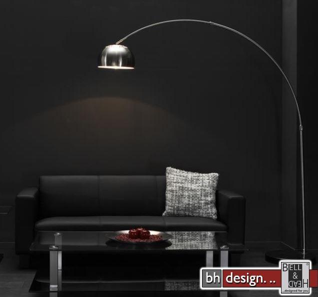 lounge line line bogenlampe silber matt 218 x 225 cm. Black Bedroom Furniture Sets. Home Design Ideas