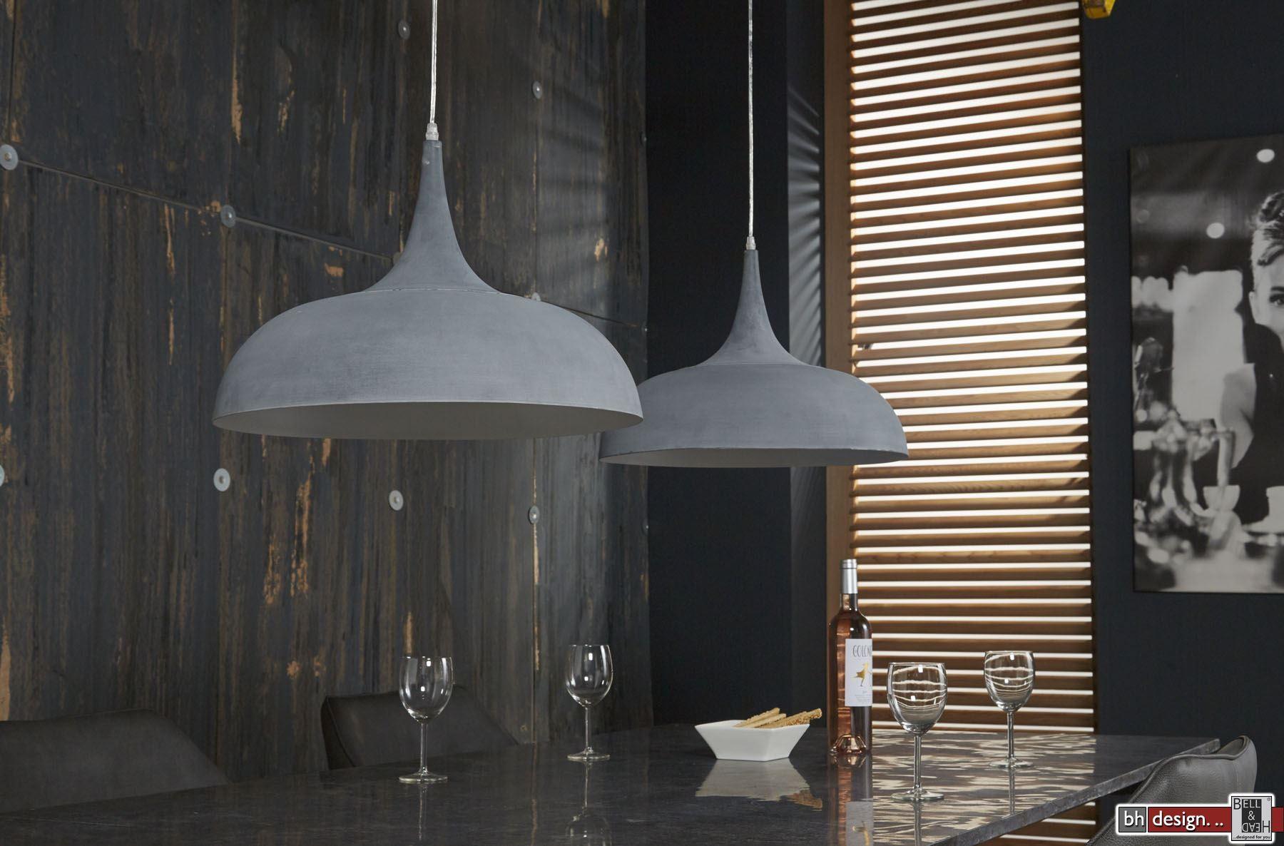 industrie line h ngelampe 2 er set mit tropfen lampenschirmen 140 x h 150 cm powered by bell. Black Bedroom Furniture Sets. Home Design Ideas