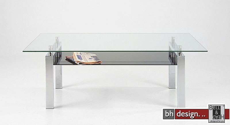 Carlo Couchtisch Glas Schwarzglas 140 X 80 Cm