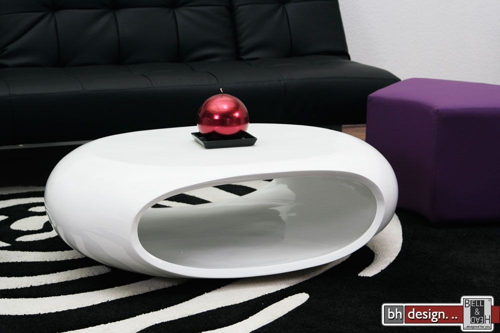 wohnzimmertische rund:elyptical-couchtisch-weiss Design Mà â€œà â