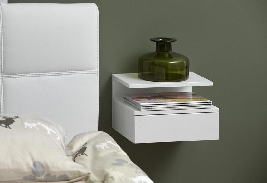 ashlan nachtkonsole f r wandmontage 35 cm x h 32 cm. Black Bedroom Furniture Sets. Home Design Ideas