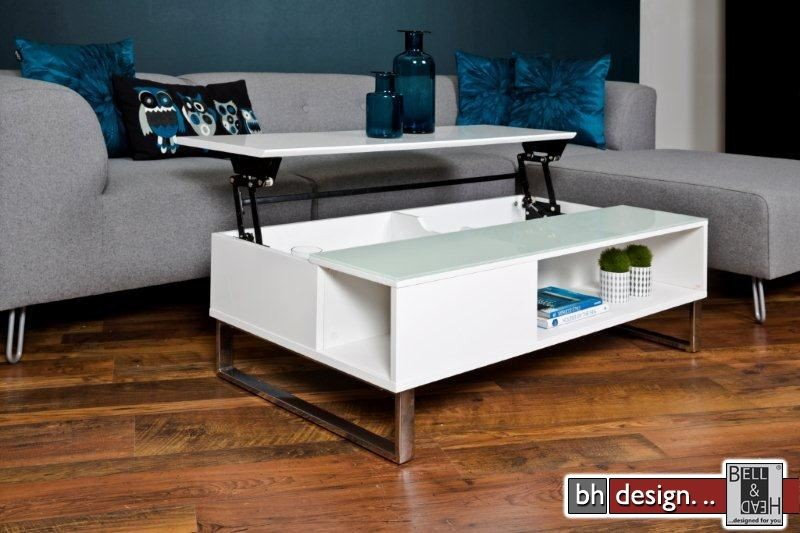 azea couchtisch hochglanz weiss mit aufbewahrung und funktion 110 cm x 60 cm powered by bell. Black Bedroom Furniture Sets. Home Design Ideas