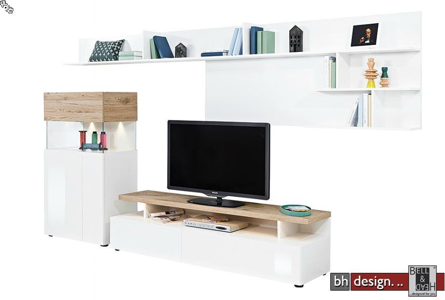 arte m wohnkombination beam w 300 cm x 181 cm x 45 in verschiedenen farben powered by bell. Black Bedroom Furniture Sets. Home Design Ideas