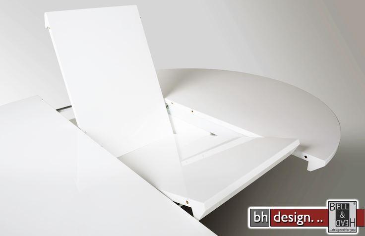 Esstisch weiß rund design  Bling Esstisch/Säulentisch by Canett Design Edelstahl mit Weiss HG ...