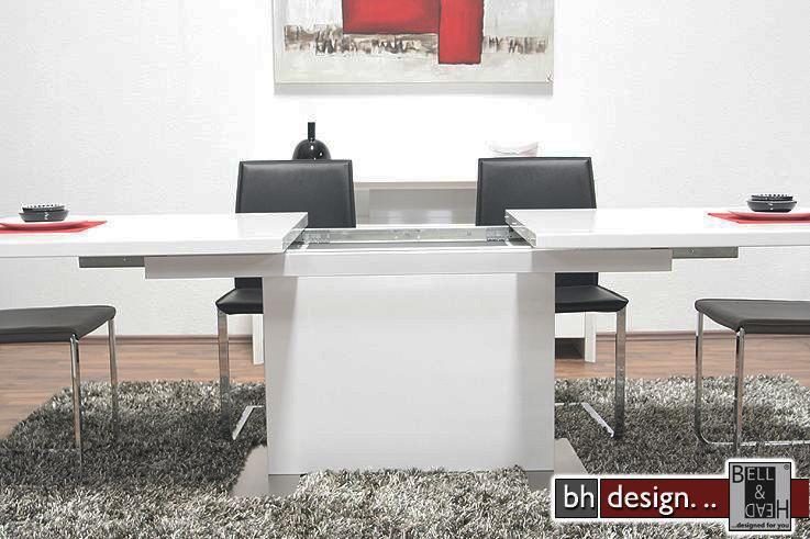 brick esstisch hochglanz weiss powered by bell head. Black Bedroom Furniture Sets. Home Design Ideas