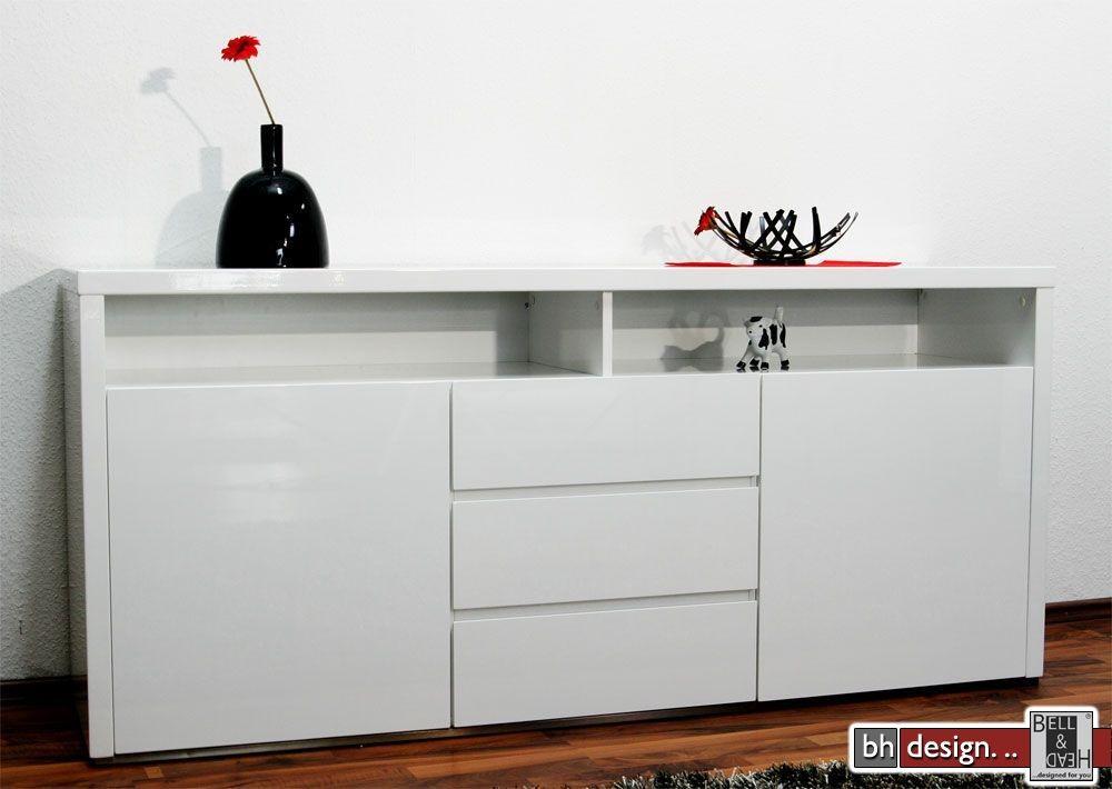 sideboard wei hochglanz trendy tv schrank wei hochglanz. Black Bedroom Furniture Sets. Home Design Ideas