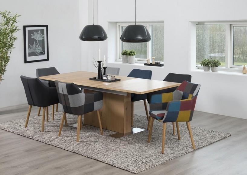 br hl s ulentisch ausziehbar wildeiche 160 210cm powered. Black Bedroom Furniture Sets. Home Design Ideas