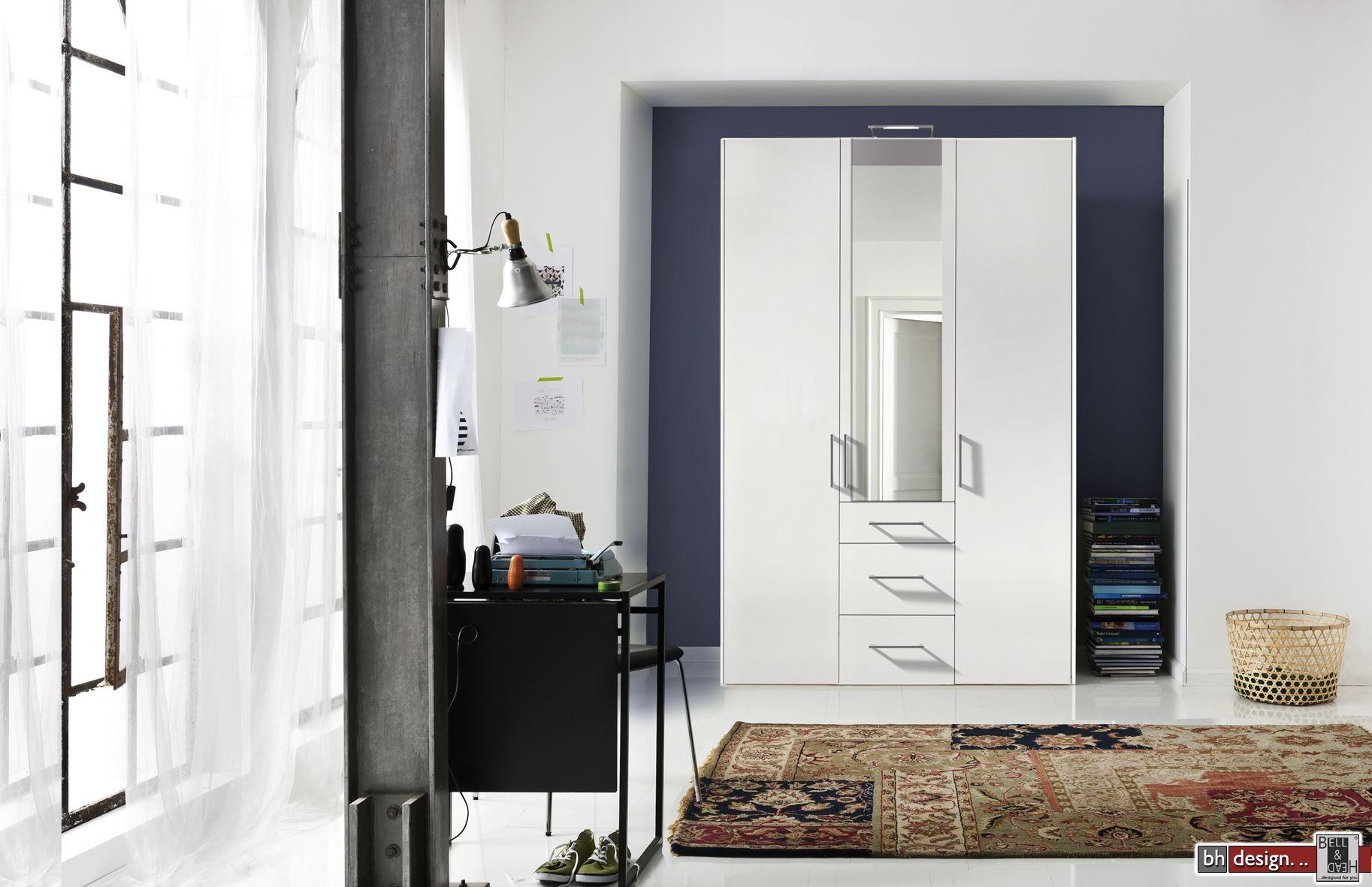 express m bel dreht renschrank brooklyn unifarben spiegel und schubladen h he 216 cm oder. Black Bedroom Furniture Sets. Home Design Ideas