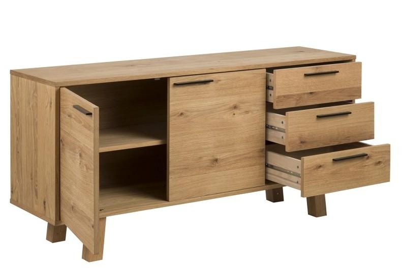 chara sideboard echtholz furnier wildeiche natur ge lt 150. Black Bedroom Furniture Sets. Home Design Ideas