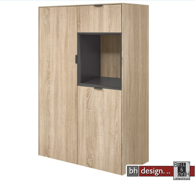arte m highboard chase 2 t ren 1 schubkasten verschiedene farben 82 x 137 x 40 cm powered by. Black Bedroom Furniture Sets. Home Design Ideas