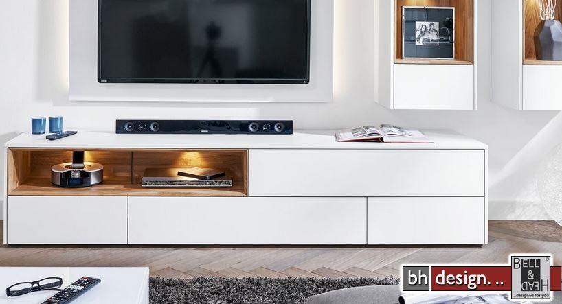 arte m tv tisch chester in verschiedenen farben und varianten 227 x 47 cm powered by bell head. Black Bedroom Furniture Sets. Home Design Ideas