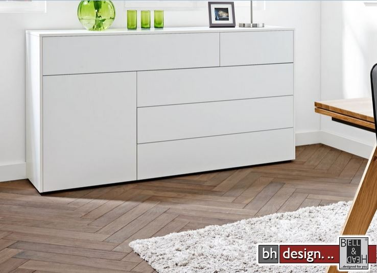 arte m highboard chester 2 t ren 2 schubk sten weiss ultramatt in verschiedenen varianten 60 x. Black Bedroom Furniture Sets. Home Design Ideas