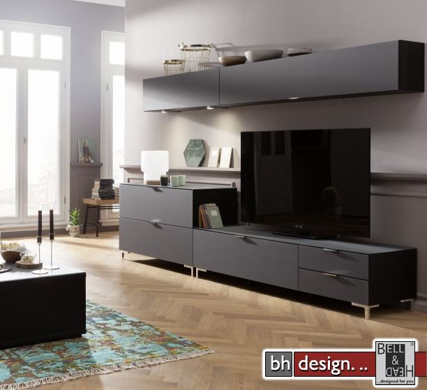 High Quality CS Schmal Wohnwand Cleo, 272 X 50 Cm X Variabel 1,TV Board, Awesome Design