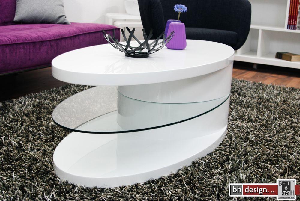 Couchtisch Oval 110 X 80 Cm Buche Farblos Geölt Und