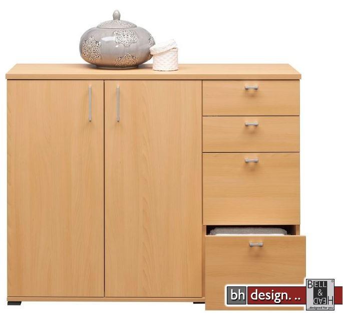 cs schmal kommode rio art 131 x 103 cm 4 schubk sten 2. Black Bedroom Furniture Sets. Home Design Ideas