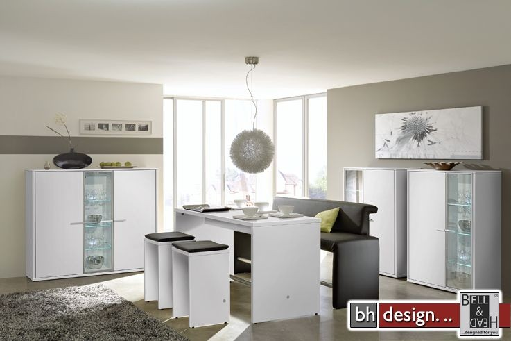 arte m highboard game plus weiss hochglanz 103 cm x 134 cm powered by bell head preiswerte. Black Bedroom Furniture Sets. Home Design Ideas