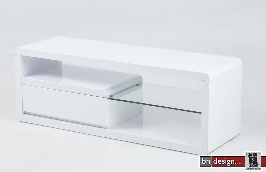 Ero Tv Tisch Hochglanz Weiss 120 X 39 H 42 Cm
