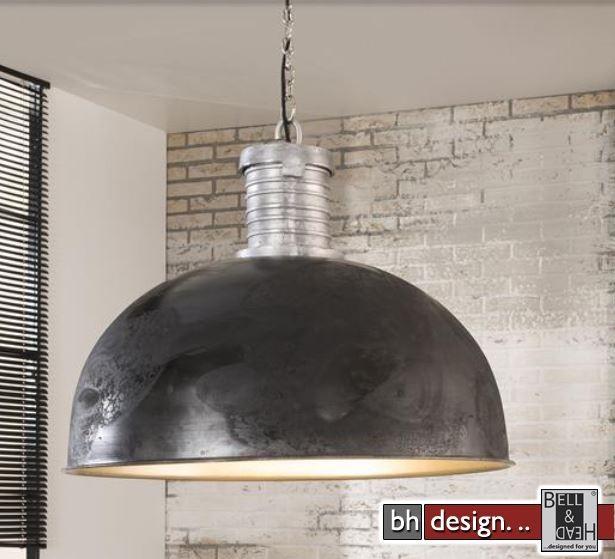 factory line rie ige h ngelampe gebranntes metall schwarz lampenschirm 80 cm powered by bell. Black Bedroom Furniture Sets. Home Design Ideas