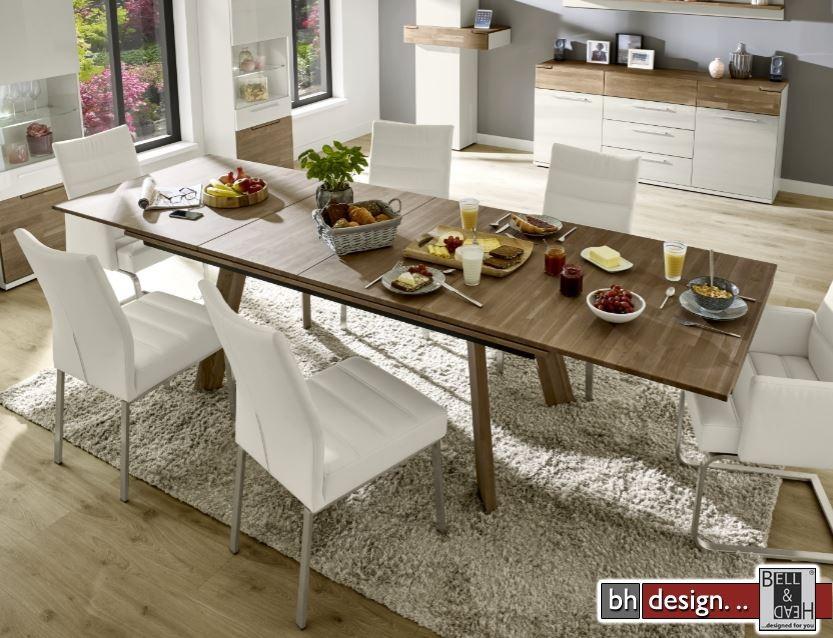 arte m esstisch feel eiche massiv ge lt ausziehbar 160 260 x 95 cm powered by bell head. Black Bedroom Furniture Sets. Home Design Ideas