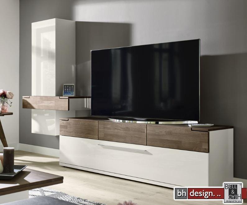 arte m tv element feel weiss oder cubanit eiche massiv in. Black Bedroom Furniture Sets. Home Design Ideas