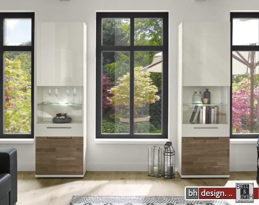 arte m vitrine feel verschiedene farben mit eiche massiv und klarglas 60 cm x 197 x 36 cm. Black Bedroom Furniture Sets. Home Design Ideas