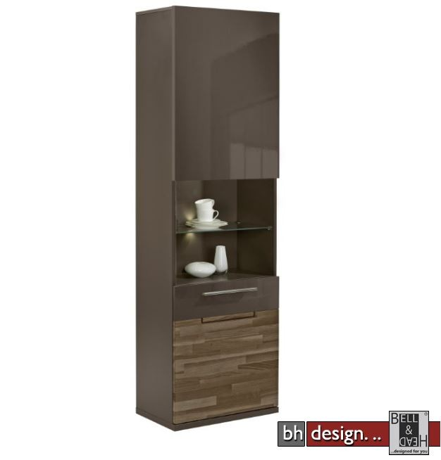 arte m vitrine feel verschiedene farben mit eiche massiv und klarglas 60 cm x 197 x 36 cm. Black Bedroom Furniture Sets. Home Design Ideas