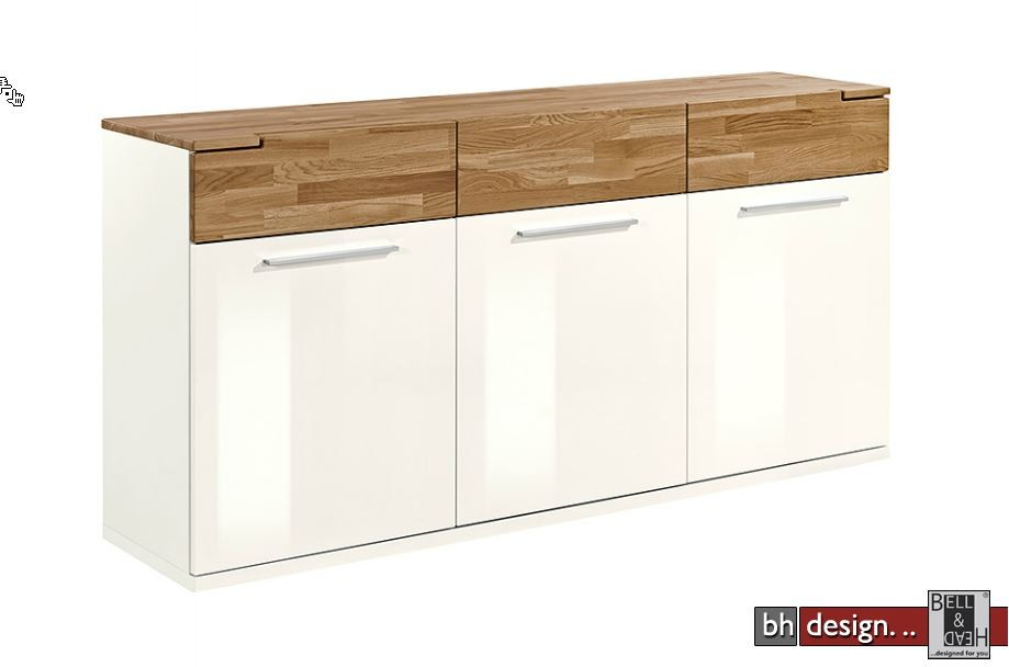 arte m sideboard feel weiss hg oder cubanit hg eiche massiv 180 cm x 88 x 42 cm powered by. Black Bedroom Furniture Sets. Home Design Ideas