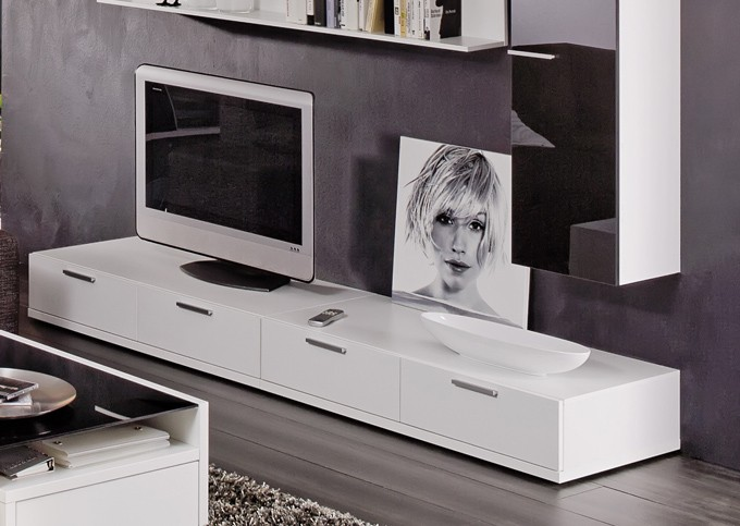 arte m tv element game plus hochglanz weiss 240 x 24 5 cm powered by bell head preiswerte. Black Bedroom Furniture Sets. Home Design Ideas