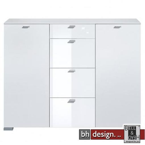 arte m highboard gallery weiss weiss hg 150 x 116 cm powered by bell head preiswerte. Black Bedroom Furniture Sets. Home Design Ideas