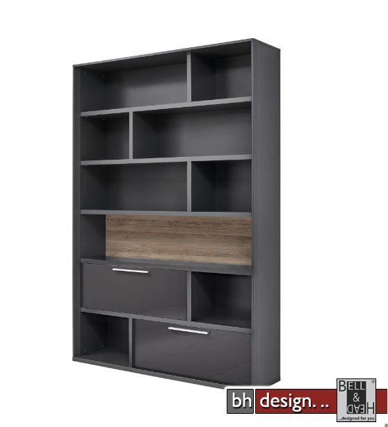 arte m regal gamble mit r ckwand 2 klappen und 5. Black Bedroom Furniture Sets. Home Design Ideas