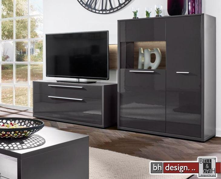 arte m tv element lowboard gamble 1 t re 1 schubkasten 123 x 55 x 45 cm verschiedene farben. Black Bedroom Furniture Sets. Home Design Ideas