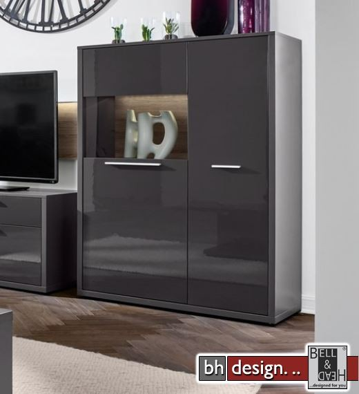 arte m highboard gamble 2 t ren 6 fachb den 103 x 135 cm in verschiedenen farben powered by. Black Bedroom Furniture Sets. Home Design Ideas