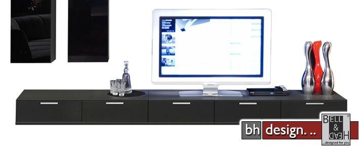 arte m tv element game schwarz 300 x 24 5 cm powered by bell head preiswerte versandkosten. Black Bedroom Furniture Sets. Home Design Ideas