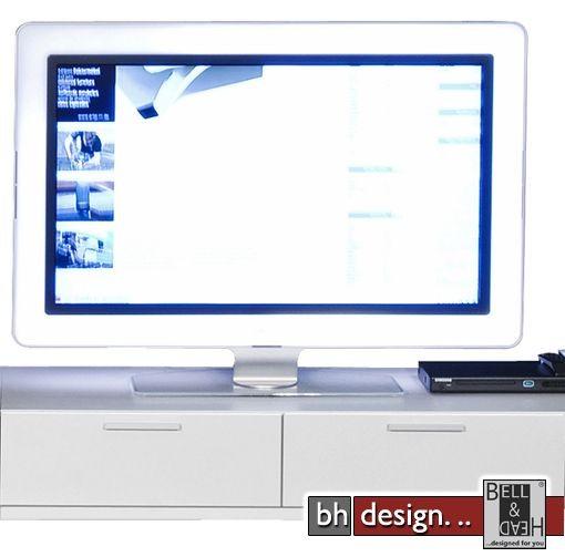 arte m tv element game weiss 120 x 24 5 cm powered by bell head preiswerte versandkosten. Black Bedroom Furniture Sets. Home Design Ideas