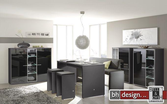 arte m highboard game schwarz schwarzglas 103 x 134 cm powered by bell head preiswerte. Black Bedroom Furniture Sets. Home Design Ideas