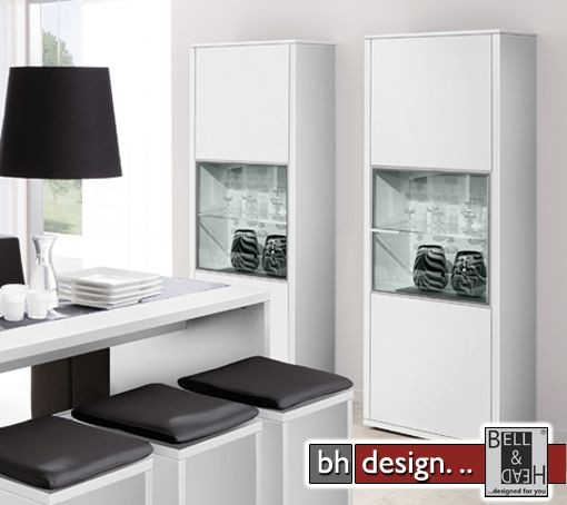 arte m vitrine game plus weiss hochglanz powered by bell head preiswerte versandkosten. Black Bedroom Furniture Sets. Home Design Ideas