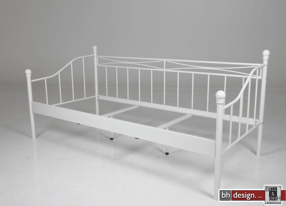 isabella einzelbett matt wei 90 x 200 cm powered by bell. Black Bedroom Furniture Sets. Home Design Ideas
