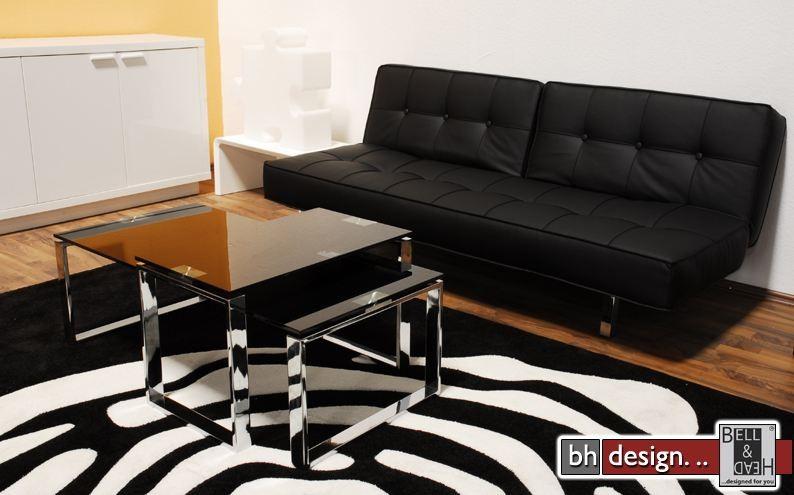 joy couchtisch schwarzglas und chrom powered by bell. Black Bedroom Furniture Sets. Home Design Ideas