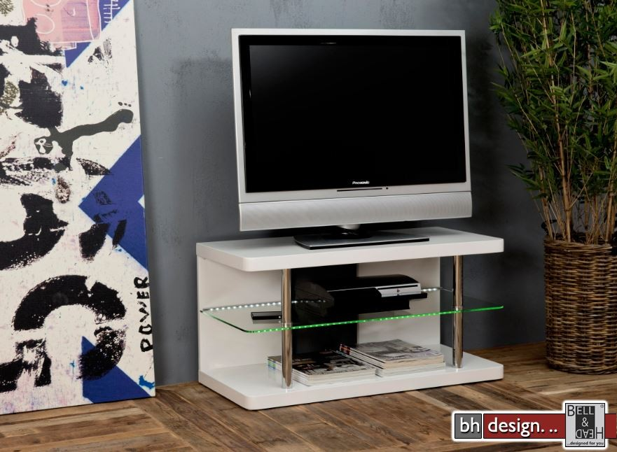 lavan tv tisch hochglanz weiss 90 x 40 cm powered by bell head preiswerte versandkosten. Black Bedroom Furniture Sets. Home Design Ideas