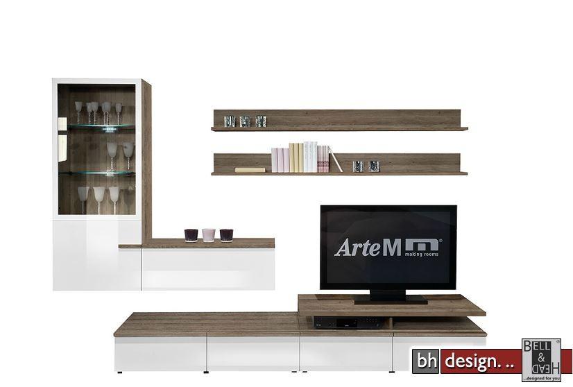 Arte M Wohnwand Linea W verschiedene Varianten 300 cm x ...