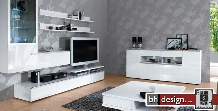 arte m wohnwand linea w verschiedene varianten 300 cm x. Black Bedroom Furniture Sets. Home Design Ideas