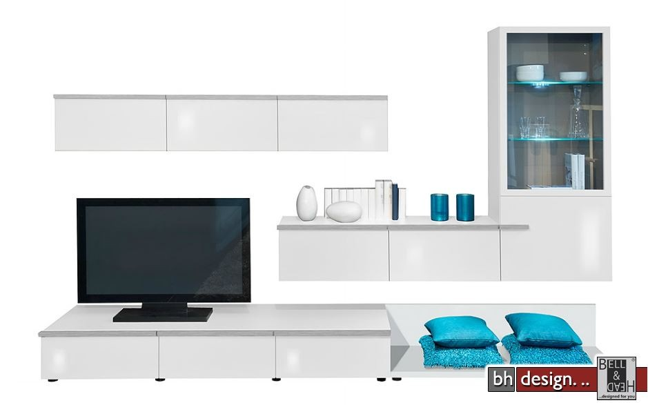 arte m wohnkombination linea w verschiedene varianten 300 cm x 200 cm x 55 cm powered by bell. Black Bedroom Furniture Sets. Home Design Ideas