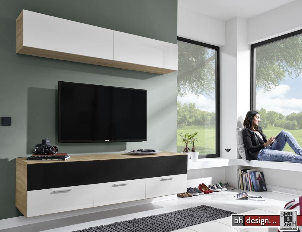 Arte m motion medien wohnwand verschiedene farben und for Wohnwand 180 cm