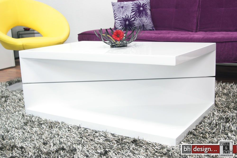 monaco2-couchtisch-weiss-100-cm powered by Bell & Head ...