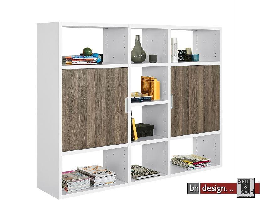 arte m regalsystem one mit 2 t ren in verschiedenen farben 195 x 146 cm powered by bell head. Black Bedroom Furniture Sets. Home Design Ideas