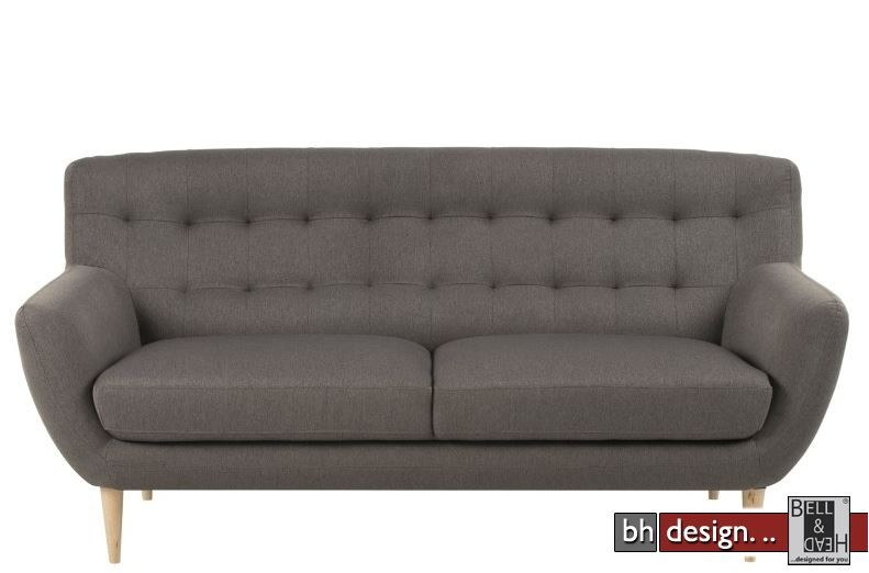 oswald retro sofa 3 sitzer in grau alternativ blau powered by bell head preiswerte. Black Bedroom Furniture Sets. Home Design Ideas