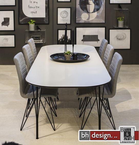 pippolo esstisch weiss matt ausziehbar von 200 cm bis 280 x 100 cm powered by bell head. Black Bedroom Furniture Sets. Home Design Ideas