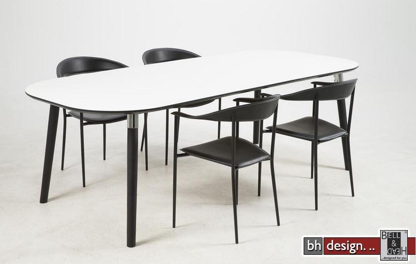 pippolo esstisch weiss matt ausziehbar von 200 cm bis 280. Black Bedroom Furniture Sets. Home Design Ideas