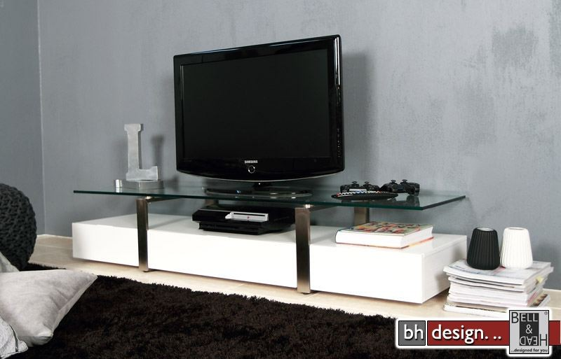 plasma tv tisch weiss powered by bell head preiswerte versandkosten innerhalb de. Black Bedroom Furniture Sets. Home Design Ideas