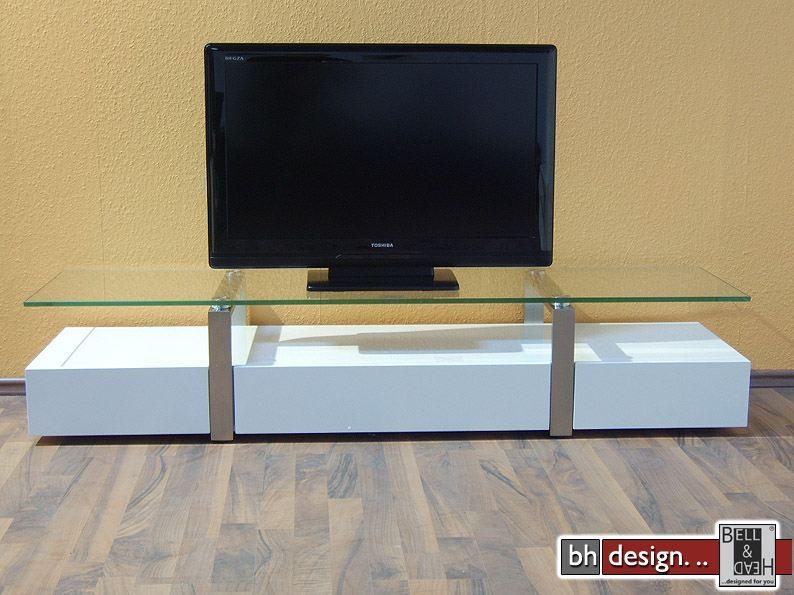plasma tv tisch weiss powered by bell head preiswerte versandkosten innerhalb de. Black Bedroom Furniture Sets. Home Design Ideas